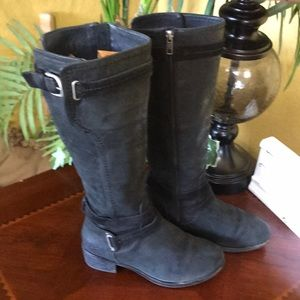 UGG Shoes - UGG Black Darcie Leather Tall Riding Boots
